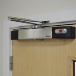 Agrippa Fire Door Closer, Brushed Stainless Steel